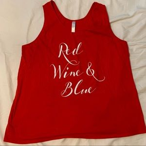 Cacique Red, Wine, & Blue Tank